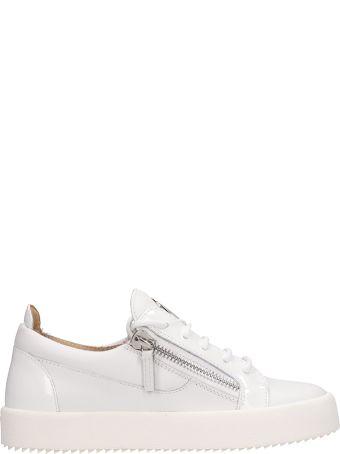 Giuseppe Zanotti White Leather Frankie Sneakers