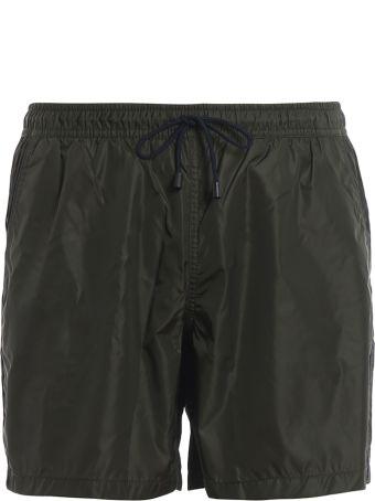 Fay Army Green Semi Glossy Nylon Swim Shorts N1md1381180pfwv413