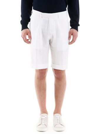 CC Collection Corneliani Linen Bermudas