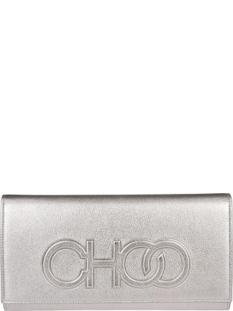 Jimmy Choo Debossed Logo Shoulder Bag