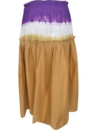 Sea Ruffled Detail Skirt