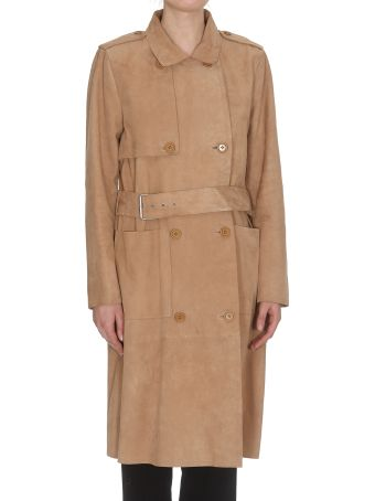 STAND Leather Trench