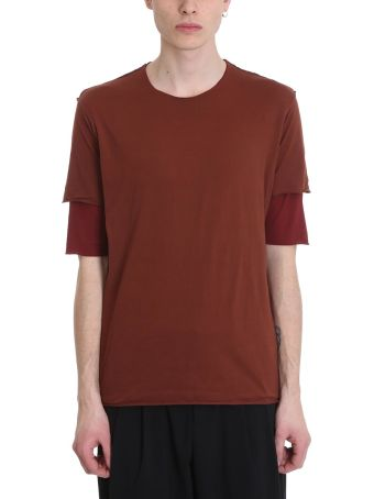 Attachment Bordeaux Cotton Double T-shirt