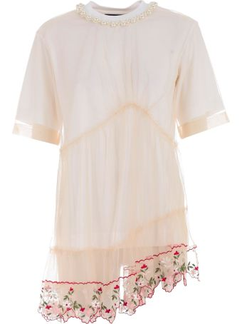 Simone Rocha Floral Embroidered T-shirt