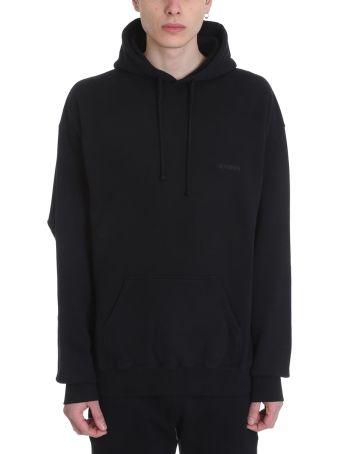 VETEMENTS Black Cotton Sweatshirt