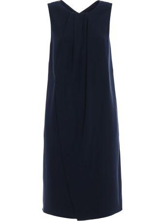 Emporio Armani Cady Vent Detailed Dress