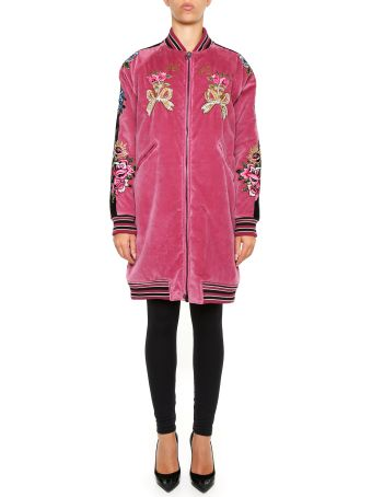 AS65 Embroidered Long Bomber Jacket