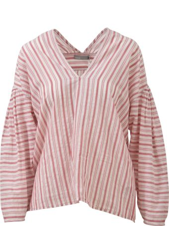 Vince Striped Long Blouse
