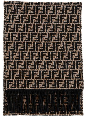 Fendi Fendi Ff Logo Embroidered Scarf