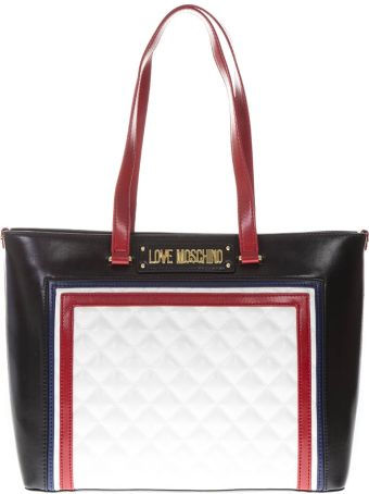 Love Moschino Multicolor Pu Mix Quilted Bag