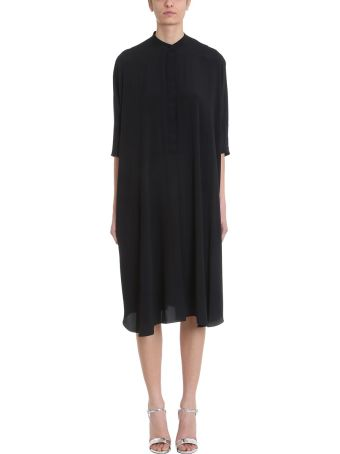 Mauro Grifoni Black Viscose Kimono Dress
