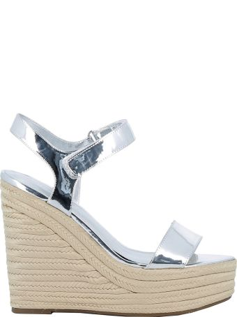 Kendall + Kylie Kendall+kylie Silver Leather Wedges
