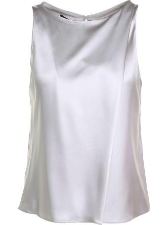 Giorgio Armani Silk-satin Sleeveless Top