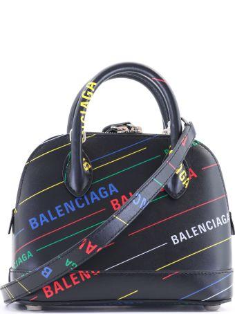 Balenciaga Bag Ville Xxs Multicolor Logo