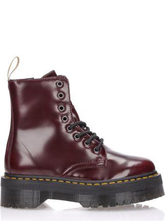 Dr. Martens Military Boots Jadon Ii Cherry Red Cambridge