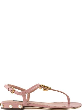 Dolce & Gabbana Calfskin Flat Sandals