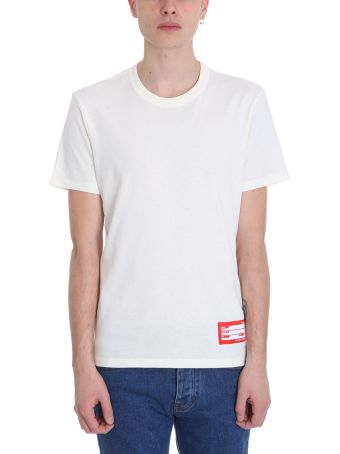 Ami Alexandre Mattiussi Crewneck White Cotton T-shirt