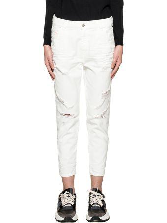Diesel White Fayza Denim Jeans