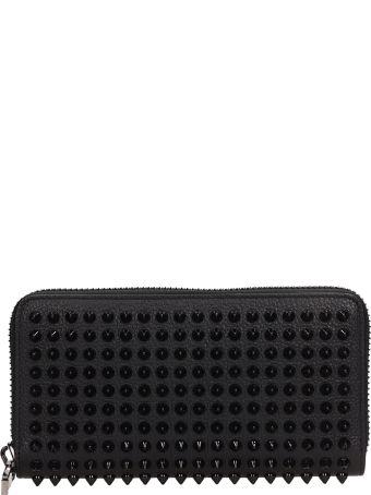 Christian Louboutin Black Leather Panettone Wallet