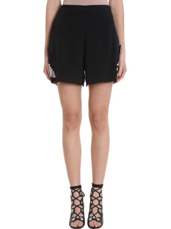 See by Chloé Lace Black Crepe Short