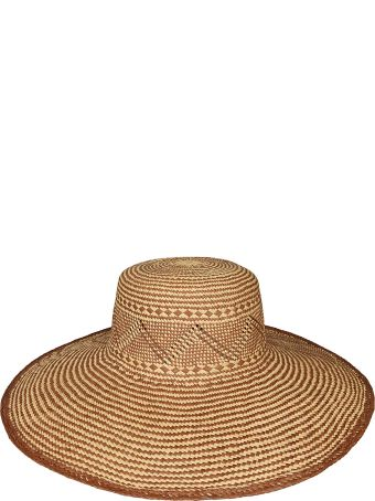 Forte_Forte Forte Forte Patterned Straw Hat