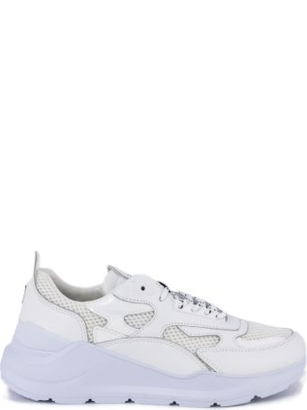 D.A.T.E. White Leather Fuga Sneakers