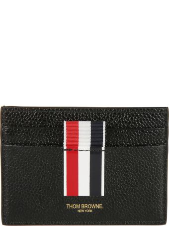 Thom Browne Mid Tri-stripe Detail Card Holder
