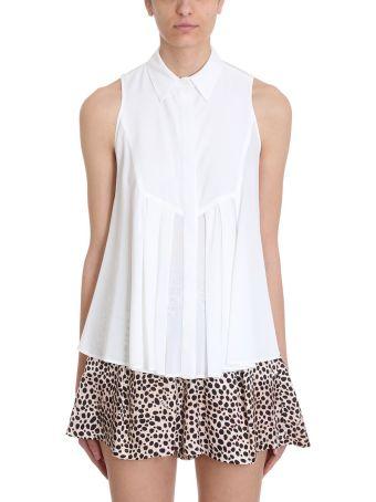 L'Autre Chose White Viscose Shirt