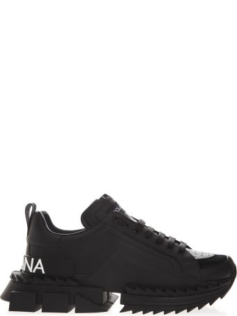 Dolce & Gabbana Super King Black Leather Sneakers