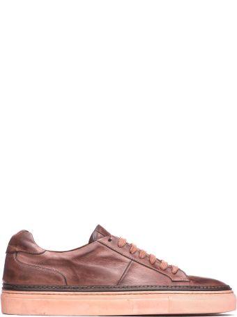 Corvari Brown Leather Sneakers