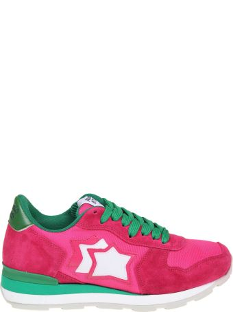 Atlantic Stars Vega Sneakers In Cameras And Canvas Color Fuchsia And Green