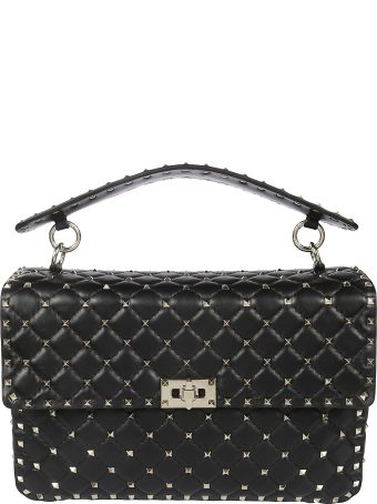 Valentino Rockstud Quilted Large Shoulder Bag