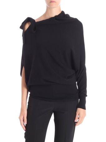 Liviana Conti Liviana Conti Asymmetric Virgin Wool Sweater