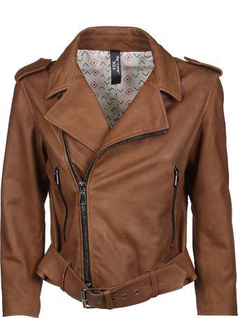 Vintage Deluxe Zip-up Biker Jacket