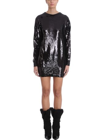 Alexandre Vauthier Black Sequins Dress