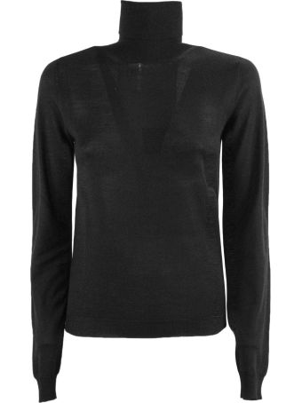 Dondup Black Merino Wool Sweater