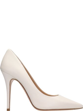 The Seller White Leather Pumps