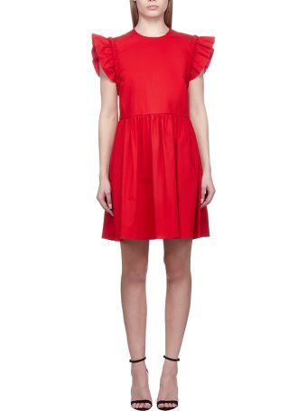 b765317c6ff RED Valentino Stretch Compact Poplin Dress