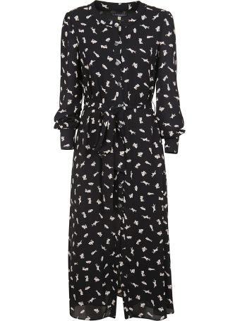 ALEXACHUNG Alexa Chung Rabbit Print Dress