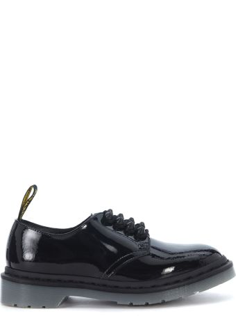 Dr. Martens Black Patent Leather Lace Up With 4 Eyelets And Studs