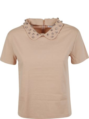 RED Valentino Embellished Collar Top