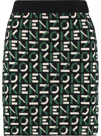 Kenzo Jacquard Knit Skirt