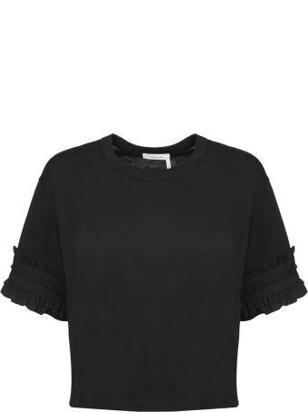 See by Chloé Ruffled Sleeve Short Top