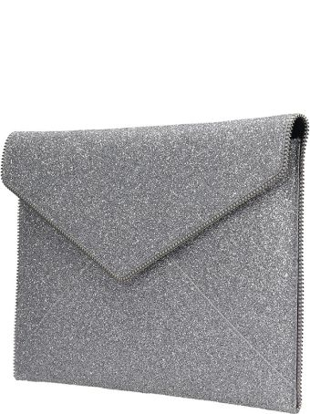 Rebecca Minkoff Leo  Clutch In Silver Leather