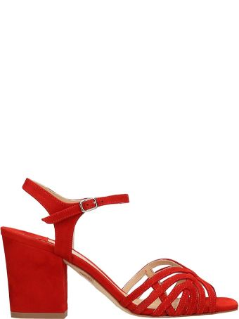 The Seller Red Suede Sandals