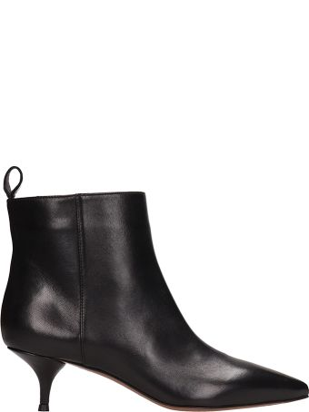 L'Autre Chose Black Leather Ankle Boot