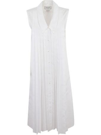 Thom Browne Pleated Sleeveless Shirt Dress