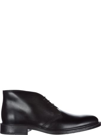 Tod's  Leather Desert Boots Lace Up Ankle Boots