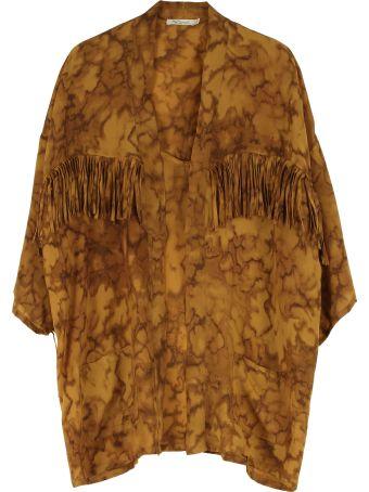 Mes Demoiselles Machistador Fringed Silk Kimono Jacket