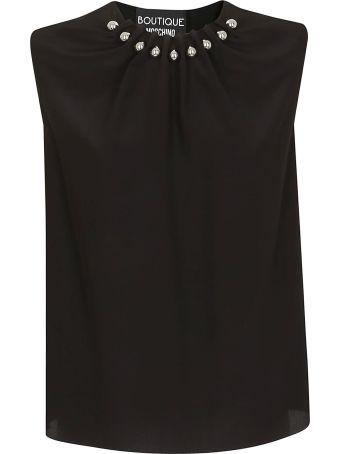 Boutique Moschino Beaded Collar Blouse